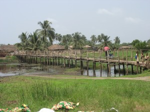 Un des villages de la commune de Grand-Popo (Bénin)