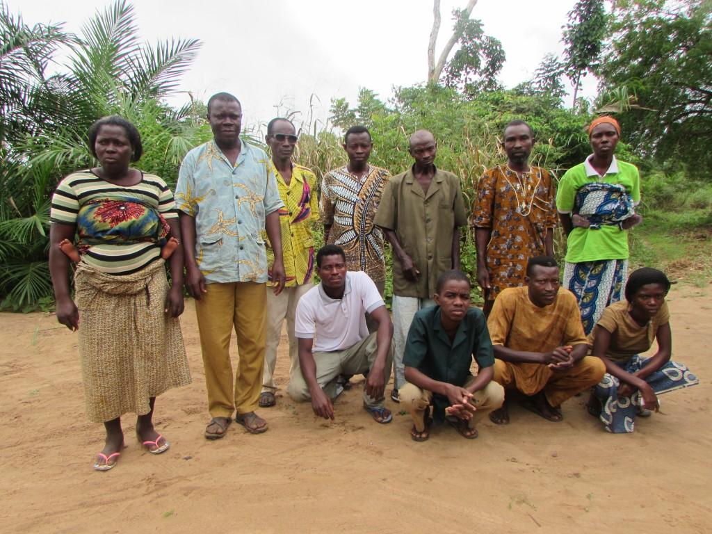Une partie des membres du groupement villageois MAUSSI