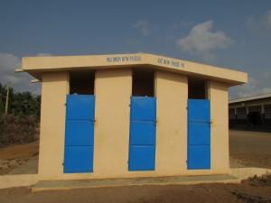 Latrines en dur dans une école - commune de Grand-Popo