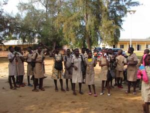 quelques élèves du CEG de Grand-Popo (Bénin)