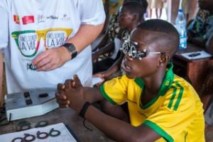 Mission Lunettes Bénin 2016  -  Vérification de la vue - villages de la commune de Grand-Popo